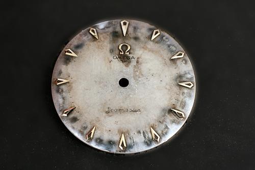 Omega dial before refinishing
