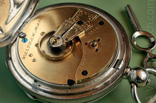 Farringdon H Waltham 7 jewel pocket watch.