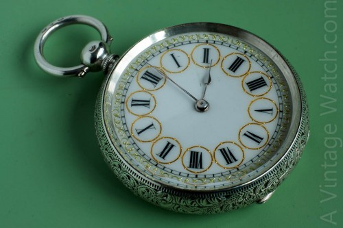 Mathey 6s Cylinder escapement pocket watch